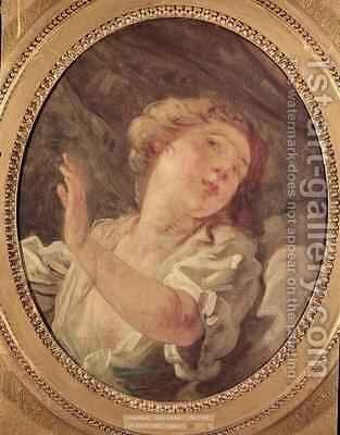 Young Woman Turning Away or La Resistance by Jean-Honore Fragonard - Reproduction Oil Painting