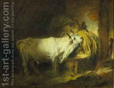 The White Bull in the Stable by Jean-Honore Fragonard - Reproduction Oil Painting
