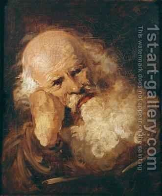 Head of an Old Man 2 by Jean-Honore Fragonard - Reproduction Oil Painting