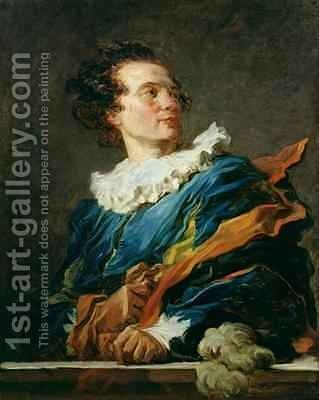 Figure of Fantasy Portrait of the Abbot of Saint Non 1727-91 by Jean-Honore Fragonard - Reproduction Oil Painting