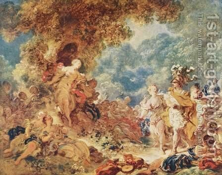 Rinaldo in the Gardens of Armida 2 by Jean-Honore Fragonard - Reproduction Oil Painting