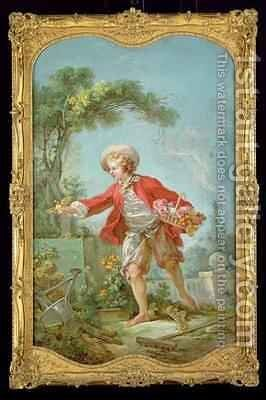 The Gardener by Jean-Honore Fragonard - Reproduction Oil Painting