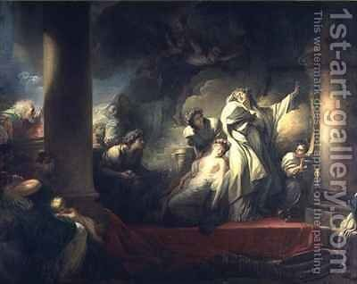 High Priest Coresus Sacrificing Himself to Save Callirhoe by Jean-Honore Fragonard - Reproduction Oil Painting
