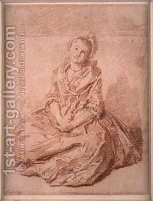 Seated Girl by Jean-Honore Fragonard - Reproduction Oil Painting