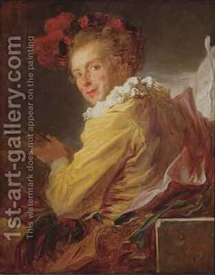 Music a portrait of Monsieur de la Breteche brother of the Abbot of Saint Non by Jean-Honore Fragonard - Reproduction Oil Painting