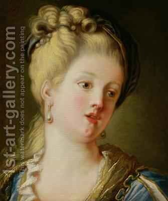 Portrait of a young woman by Jean-Honore Fragonard - Reproduction Oil Painting