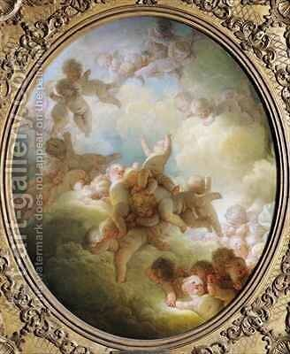 The Swarm of Cupids by Jean-Honore Fragonard - Reproduction Oil Painting