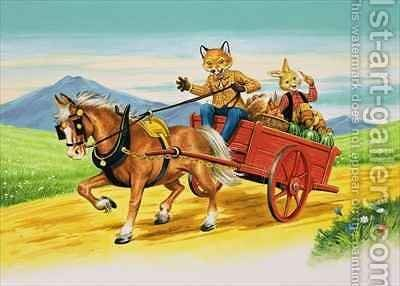 Brer Rabbit 6 by Henry Charles Fox - Reproduction Oil Painting
