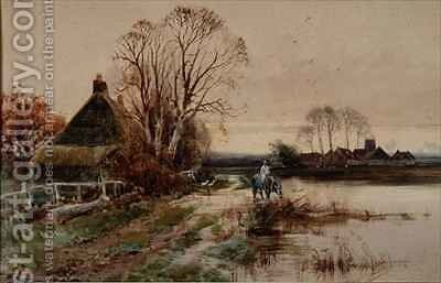 Near Reedham Norfolk by Henry Charles Fox - Reproduction Oil Painting