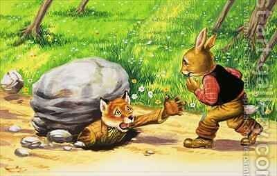 Brer Rabbit 11 by Henry Charles Fox - Reproduction Oil Painting