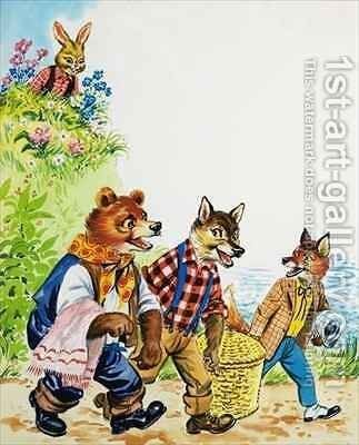 Brer Rabbit 14 by Henry Charles Fox - Reproduction Oil Painting