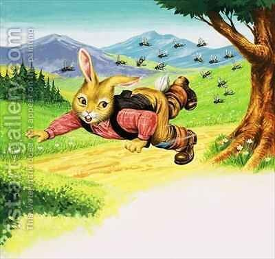 Bear Rabbit 6 by Henry Charles Fox - Reproduction Oil Painting