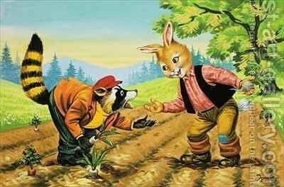 Brer Rabbit 30 by Henry Charles Fox - Reproduction Oil Painting