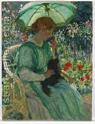The Green Parasol by Emanuel Phillips Fox - Reproduction Oil Painting