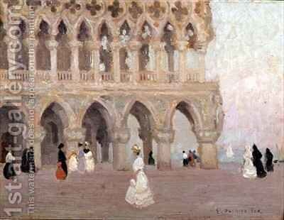 The Doges Palace Venice by Emanuel Phillips Fox - Reproduction Oil Painting