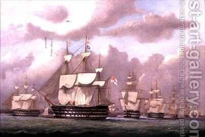 The Vice Admiral of the White Arriving at Spithead by Arthur Wellington Fowles - Reproduction Oil Painting