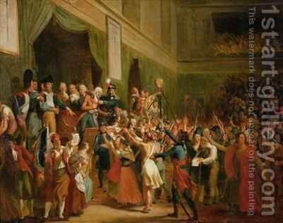 Francois Antoine Boissy dAnglas 1756-1826 saluting the head of the deputy Jean Bertrand Feraud 1759-95 by Charles Fournier - Reproduction Oil Painting