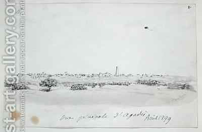 General view of the Town of Agadez Niger by Henry Dr. Fournial - Reproduction Oil Painting