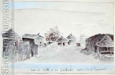A street in Zinder by Henry Dr. Fournial - Reproduction Oil Painting