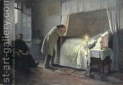 The Death Bed of Madame Bovary by Albert-Auguste Fourie - Reproduction Oil Painting