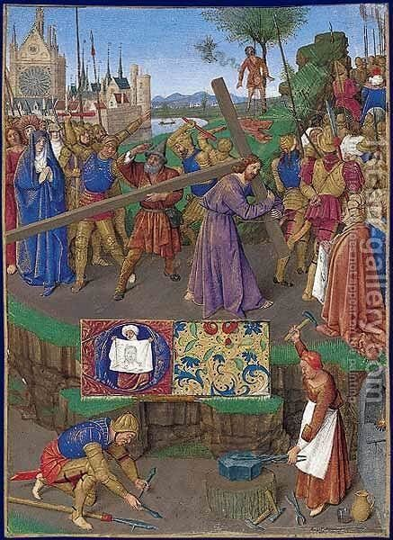 Carrying the Cross by Jean Fouquet - Reproduction Oil Painting