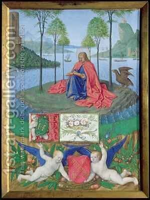 St John on Patmos by Jean Fouquet - Reproduction Oil Painting