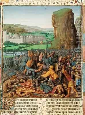 Victory of the Israelites over the Philistines by Jean Fouquet - Reproduction Oil Painting