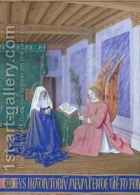 The Annunciation of the Virgins Death by Jean Fouquet - Reproduction Oil Painting