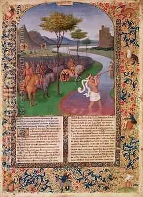 Julius Caesar 100-44 BC Crossing the Rubicon by Jean Fouquet - Reproduction Oil Painting