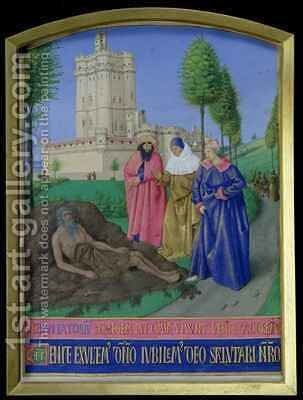 Job on the dung heap by Jean Fouquet - Reproduction Oil Painting