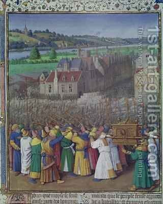 The Fall of Jericho by Jean Fouquet - Reproduction Oil Painting