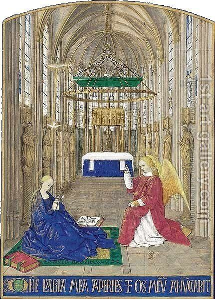 The Annunciation by Jean Fouquet - Reproduction Oil Painting