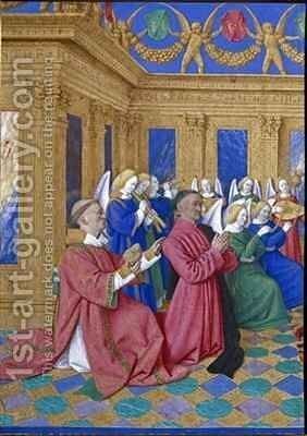 Etienne Chevalier and St Stephen by Jean Fouquet - Reproduction Oil Painting