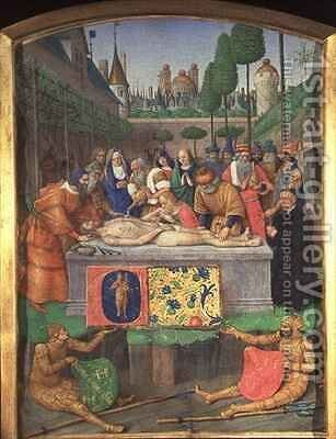 The Entombment from the Hours of Etienne Chevalier by Jean Fouquet - Reproduction Oil Painting