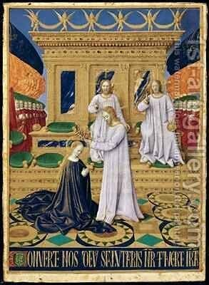 The Coronation of the Virgin by Jean Fouquet - Reproduction Oil Painting