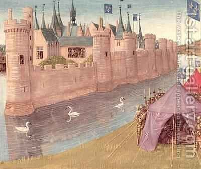 Death of Clothar I and the division of his kingdom Grandes Chroniques de France by Jean Fouquet - Reproduction Oil Painting