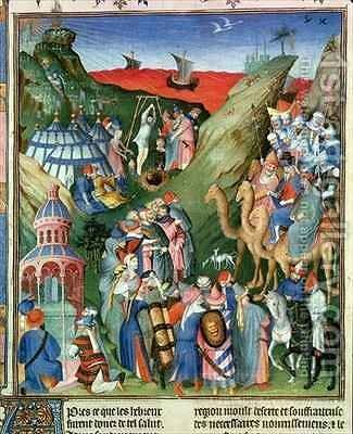 Tome 1 Hebrews in the desert by Jean Fouquet - Reproduction Oil Painting