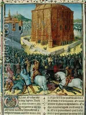 The Siege of Jerusalem by Nebuchadnezzar by Jean Fouquet - Reproduction Oil Painting
