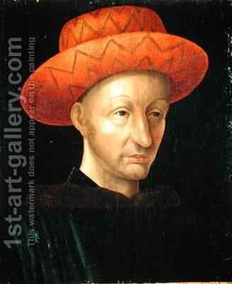 Portrait of Charles VII 1403-61 by Jean Fouquet - Reproduction Oil Painting