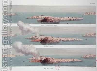 The eruption of the Georgios volcano by (after) Fouque, Ferdinand - Reproduction Oil Painting