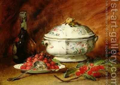 Still Life with a Soup Tureen by Guillaume-Romain Fouace - Reproduction Oil Painting