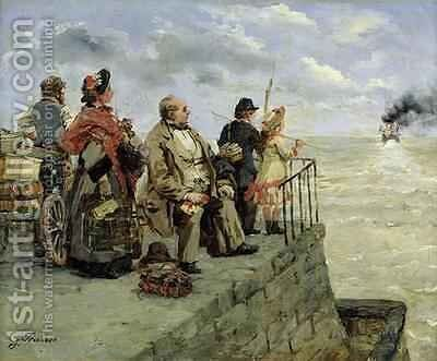 Leaving for Jersey by Guillaume-Romain Fouace - Reproduction Oil Painting