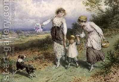 Returning from the Village by Myles Birket Foster - Reproduction Oil Painting