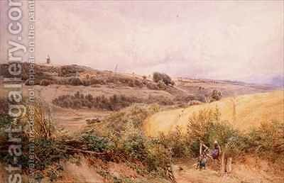 Summer Landscape near Haslemere Surrey by Myles Birket Foster - Reproduction Oil Painting