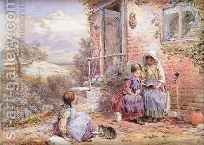 The Story Book by Myles Birket Foster - Reproduction Oil Painting