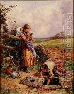 At The Well by Myles Birket Foster - Reproduction Oil Painting
