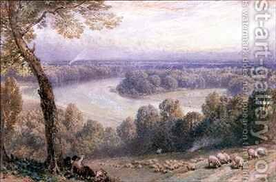 The Thames from Richmond Hill by Myles Birket Foster - Reproduction Oil Painting
