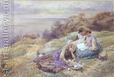 At Bonchurch Isle of Wight by Myles Birket Foster - Reproduction Oil Painting