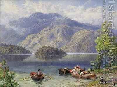 Ben Venue and Ellens Isle Loch Katrine by Myles Birket Foster - Reproduction Oil Painting