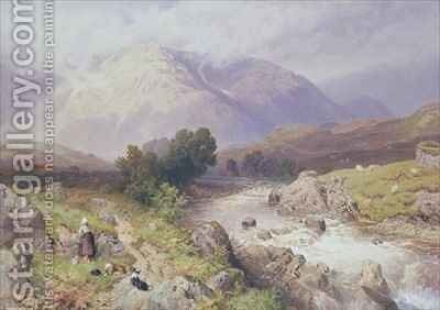 Highland Scene near Dalmally Argyll by Myles Birket Foster - Reproduction Oil Painting